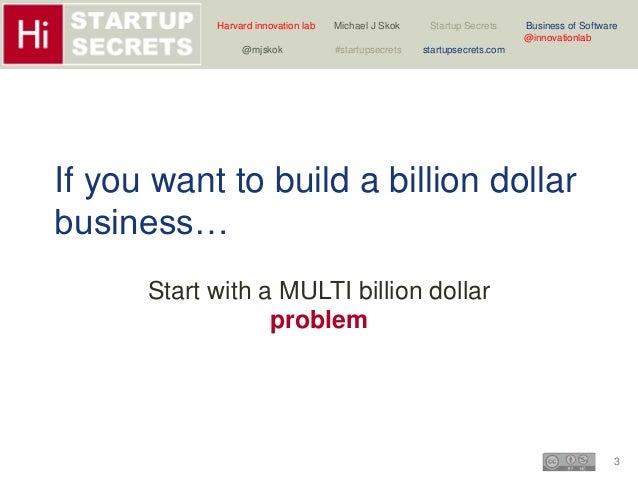 Harvard innovation lab Michael J Skok Startup Secrets Business of Software  3  @innovationlab  @mjskok #startupsecrets sta...