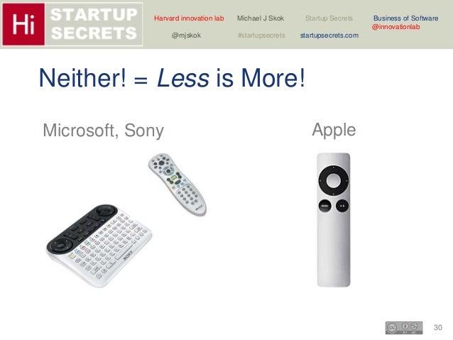 Harvard innovation lab Michael J Skok Startup Secrets Business of Software  30  @innovationlab  @mjskok #startupsecrets st...