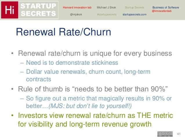 Harvard innovation lab Michael J Skok Startup Secrets Business of Software  41  @innovationlab  @mjskok #startupsecrets st...