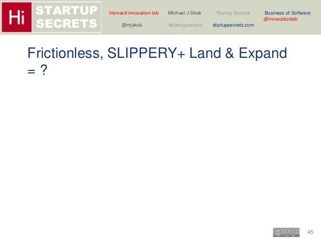 Harvard innovation lab Michael J Skok Startup Secrets Business of Software  45  @innovationlab  @mjskok #startupsecrets st...