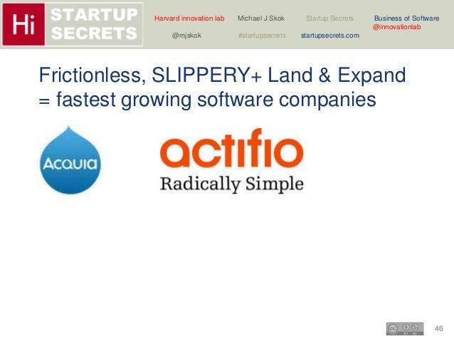 Harvard innovation lab Michael J Skok Startup Secrets Business of Software  46  @innovationlab  @mjskok #startupsecrets st...