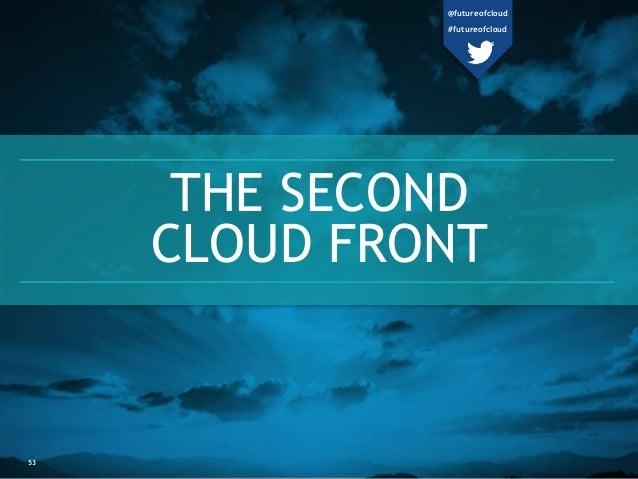 THE SECOND  CLOUD FRONT  53  @futureofcloud  #futureofcloud