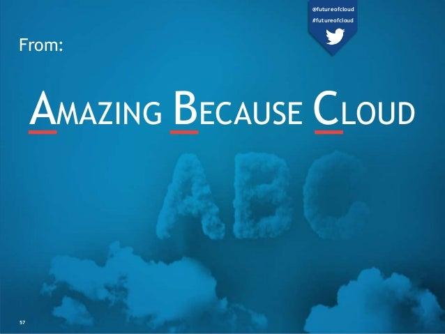 From:  AMAZING BECAUSE CLOUD  57  @futureofcloud  #futureofcloud