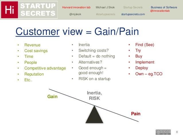 Harvard innovation lab Michael J Skok Startup Secrets Business of Software  8  @innovationlab  @mjskok #startupsecrets sta...
