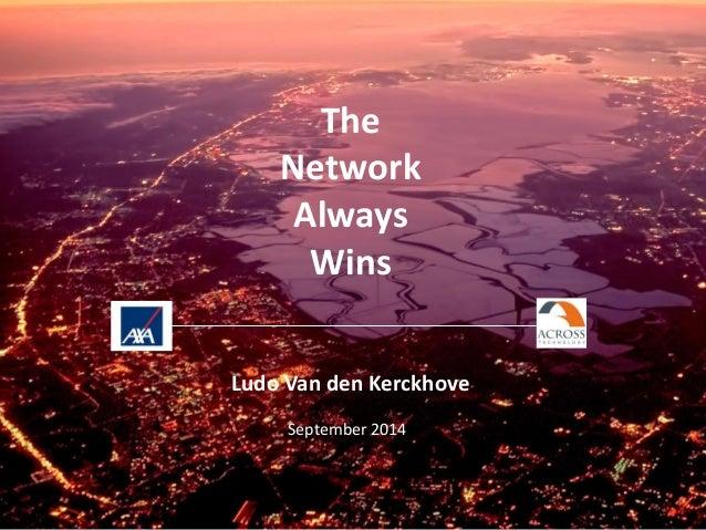 The Network Always Wins Ludo Van den Kerckhove  September 2014