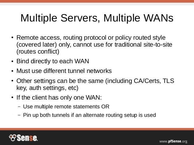 Advanced OpenVPN Concepts - pfSense Hangout September 2014