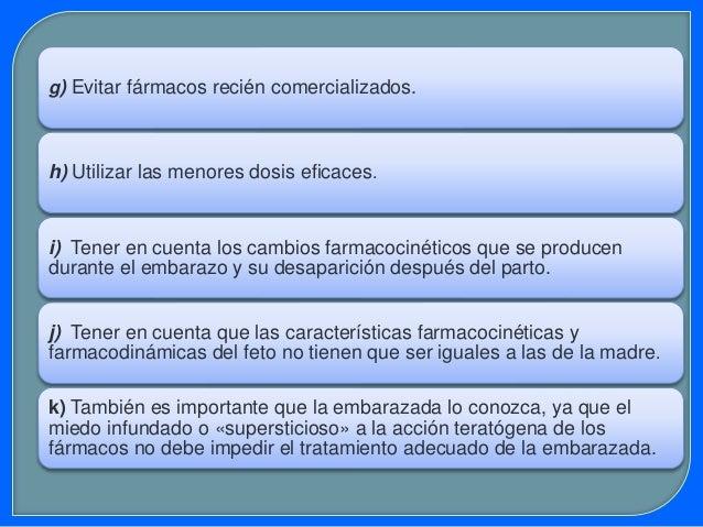 Ms.Sc. Elena Cáceres A. FÁRMACOS A EVITAR EN EL EMBARAZO  Fármacos antineoplásicos (quimioterapia para el cáncer)  Talid...