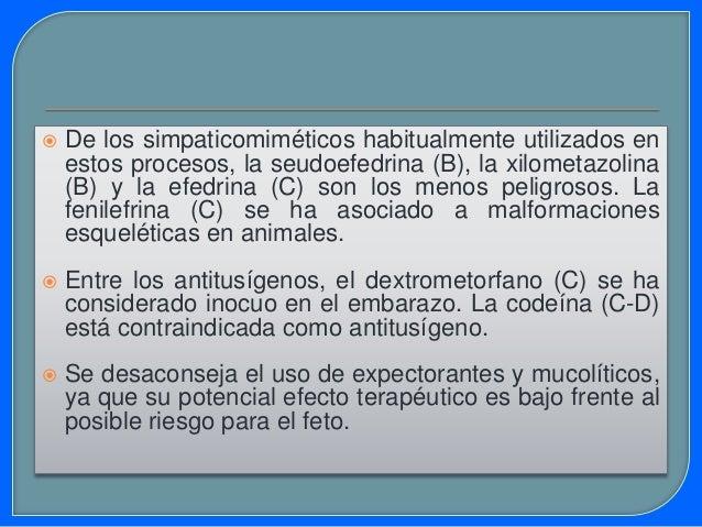  Respecto al cromoglicato disódico (B), no existe evidencia que lo relacione con defectos congénitos . Aunque en algunos ...