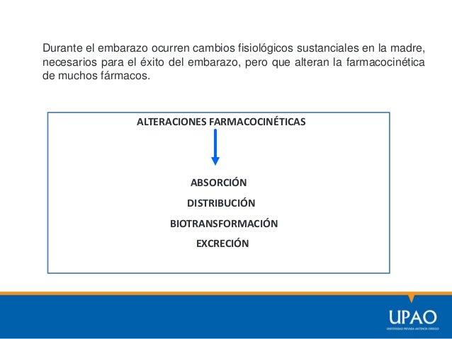 Cambios Farmacocinéticos durante el embarazo Ms.Sc. Elena Cáceres A.