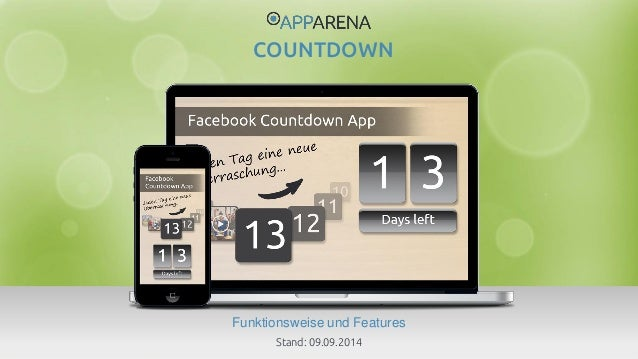 www.app-arena.com | +49 (0)221 – 292 044 – 0 | support@app-arena.com  Funktionsweise und Features  COUNTDOWN  Stand: 09.09...
