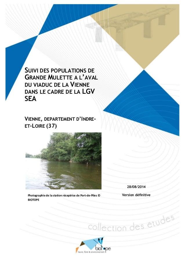 Suivi des mesures de déplacement de Mulettes protégées dans le cadre de la LGV SEA, cas de la Vienne (Indre-et-Loire) BIOT...