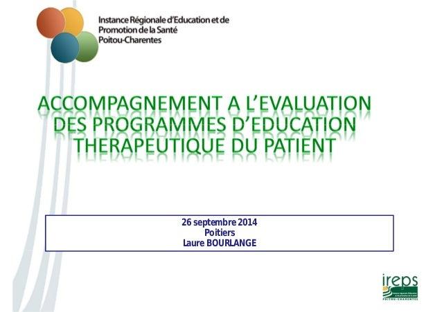 26 septembre 2014  Poitiers  Laure BOURLANGE