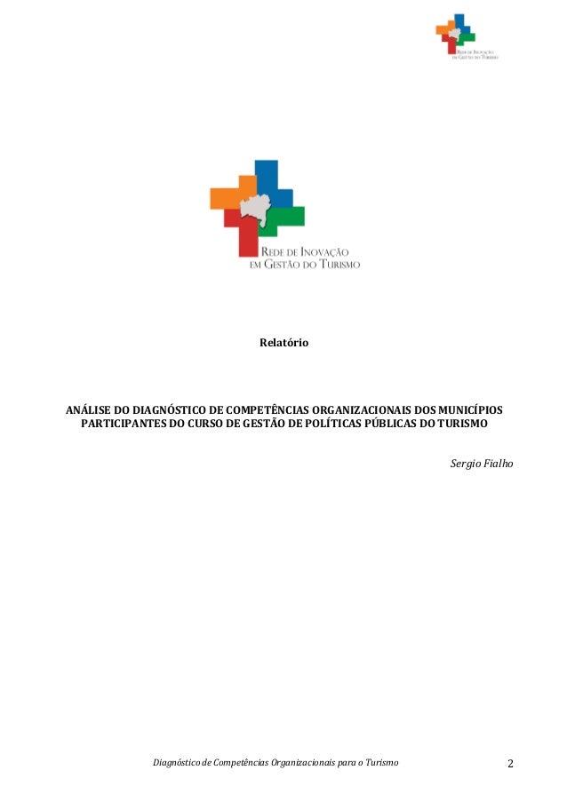 Diagnóstico  de  Competências  Organizacionais  para  o  Turismo   2                       ...