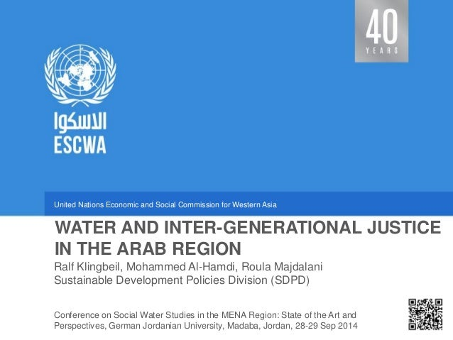 United Nations Economic and Social Commission for Western Asia  Sustainable Development Policies Division (SDPD)  WATER AN...