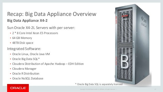 Oracle Big Data Appliance And Big Data Sql For Advanced