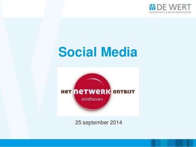 Social Media  25 september 2014