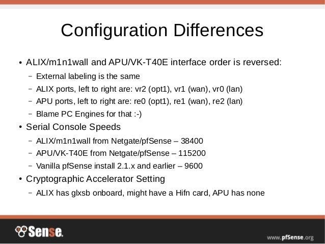 Alix to APU Conversion - pfSense Hangout October 2014