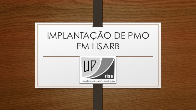 IMPLANTAÇÃO DE PMO  EM LISARB