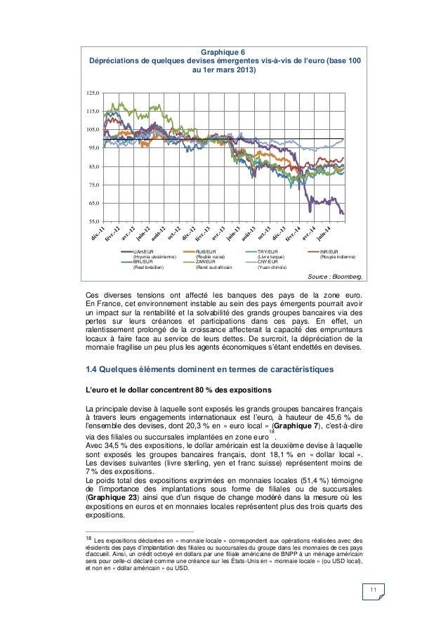 11  Ces diverses tensions ont affecté les banques des pays de la zone euro. En France, cet environnement instable au sein ...