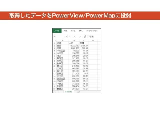 取得したデータをPowerView/PowerMapに投射