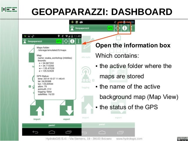 Basic operations with Geopaparazzi (start, import, export)