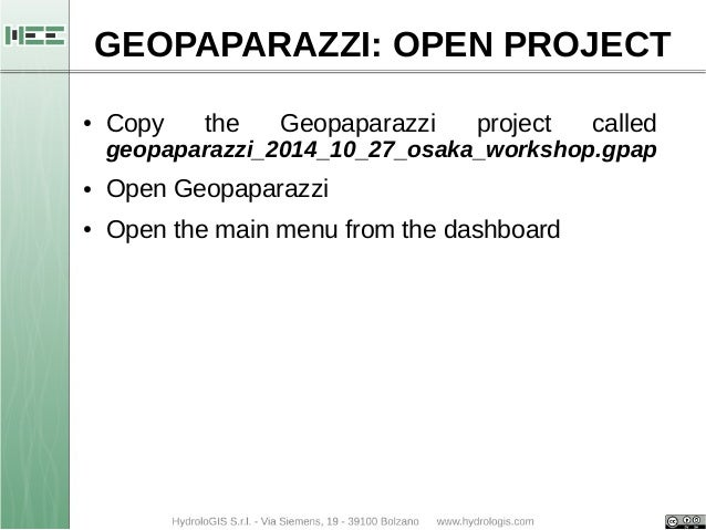 Basic operations with Geopaparazzi (start, import, export)