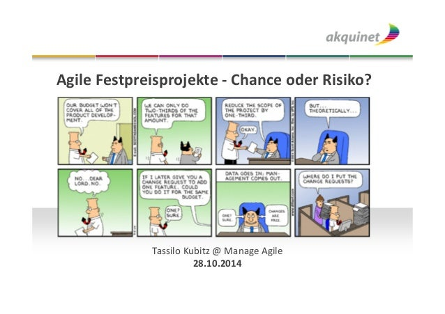 Agile Festpreisprojekte - Chance oder Risiko?  Tassilo Kubitz @ Manage Agile  28.10.2014