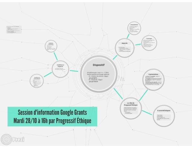 Session d'information Google Grants du 28 octobre 2014 par Progressif Éthique
