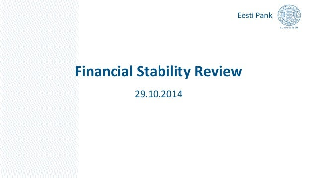 Financial Stability Review  29.10.2014