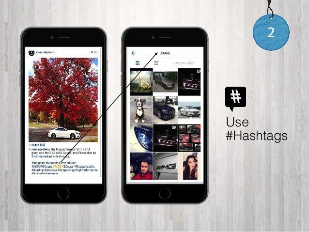 2  Use  #Hashtags
