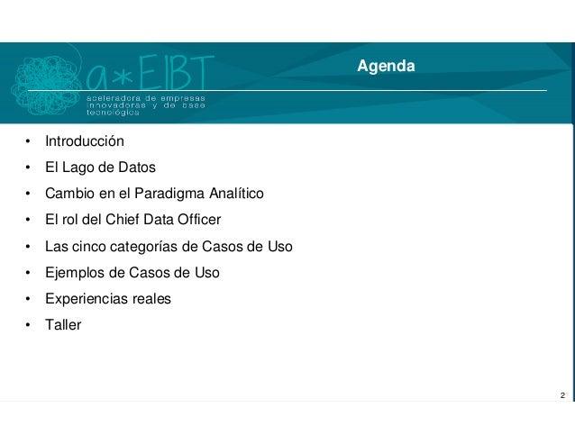 """""""Casos de uso del Big Data"""" por Wolfram Rozas Slide 2"""