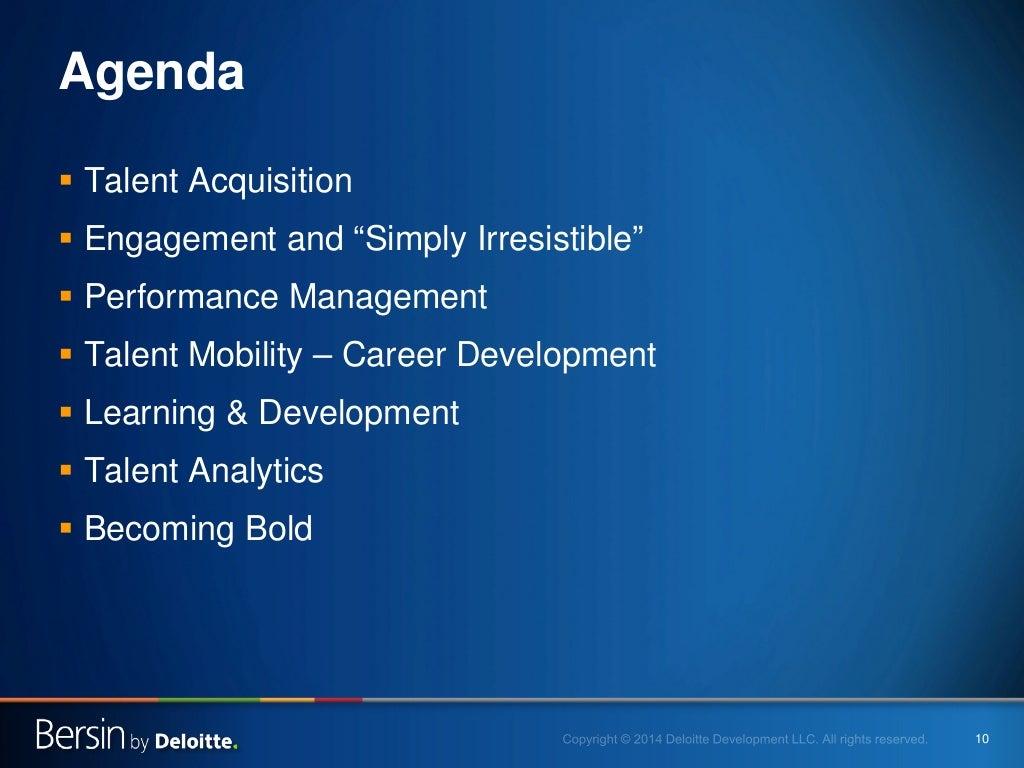 10 agenda talent acquisition