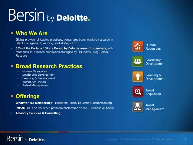 2    Who We Are  -  Global provider of leading practices, trends, and benchmarking research in talent management, learnin...