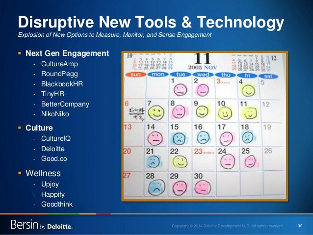 30  Disruptive New Tools & Technology Explosion of New Options to Measure, Monitor, and Sense Engagement    Next Gen Enga...