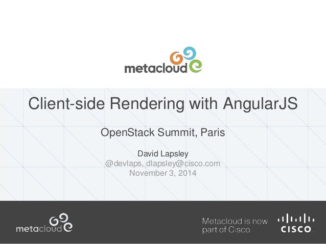 Client-side Rendering with AngularJS