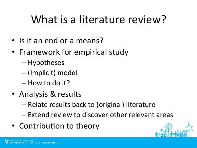 how to write a review of literature in research articles
