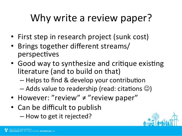 How to write a paper review