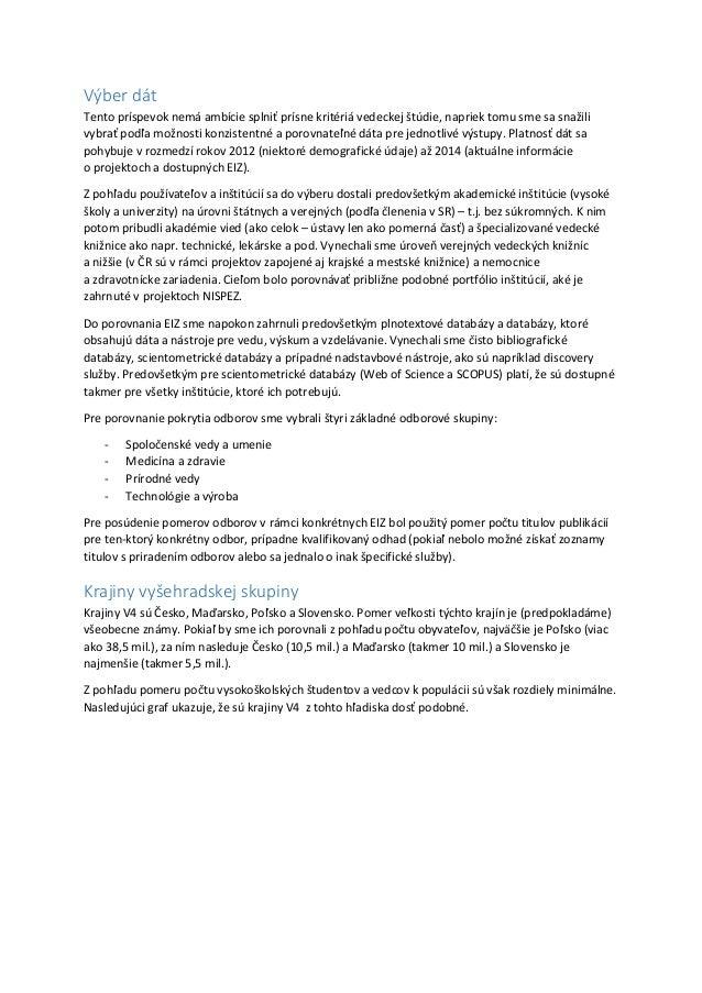E-zdroje v krajinách Vyšehradskej skupiny Slide 2