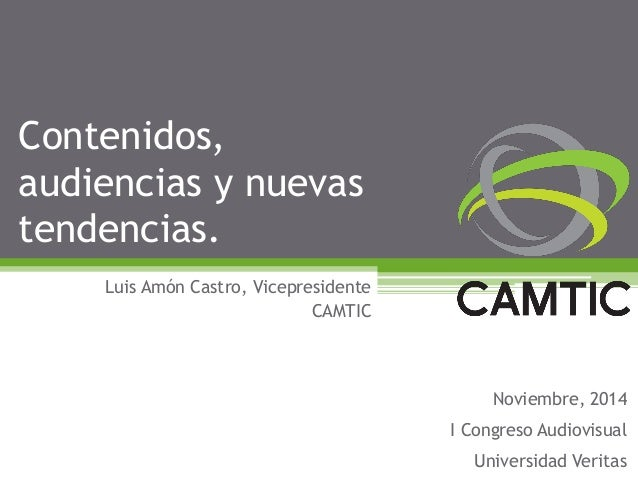 20141110 camtic congreso audiovisual