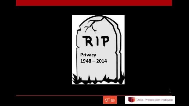 1 Privacy 1948 – 2014