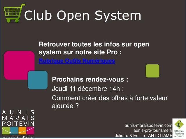 aunis-maraispoitevin.comaunis-pro-tourisme.fr  Juliette & Emilie–ANT OTAMP  Prochains rendez-vous :  Jeudi 11 décembre 14h...