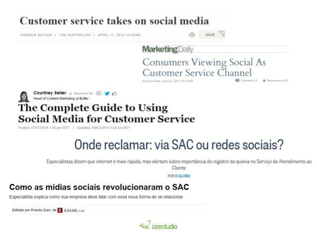 tempo de resposta esperado  51% mesmo dia  29% até 2 horas  Fonte: http://pt.slideshare.net/socialisten/social-customer-se...