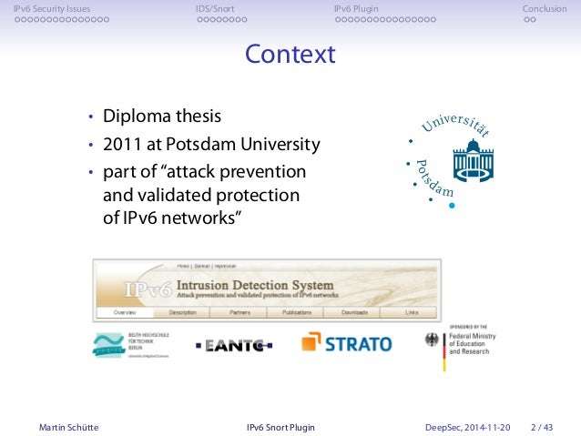 The IPv6 Snort Plugin (at DeepSec 2014) Slide 2
