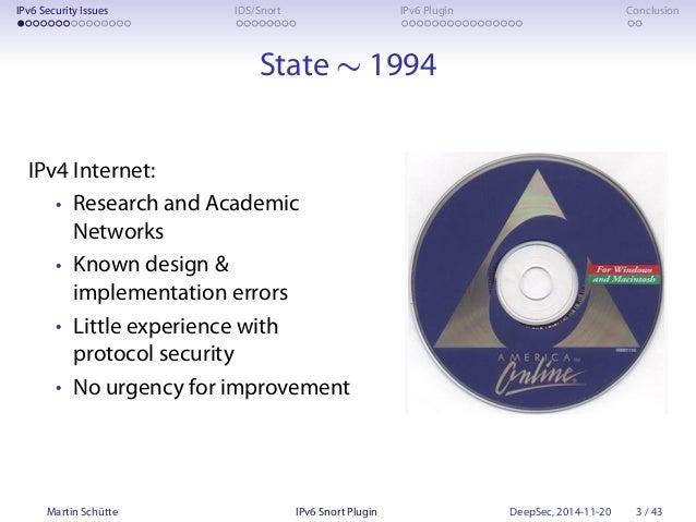 The IPv6 Snort Plugin (at DeepSec 2014) Slide 3