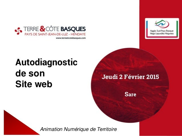 Autodiagnostic de son Site web Animation Numérique de Territoire Jeudi 2 Février 2015 Sare