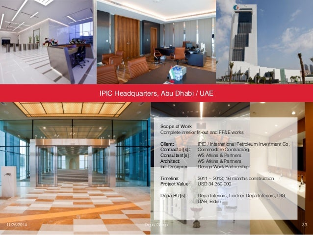 Depa Interiors Fit Out Contracting Profile
