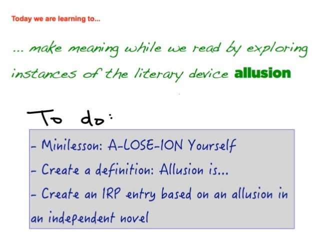 A Lose Ion Yourself A Introduction To The Literary Device Of Allusion