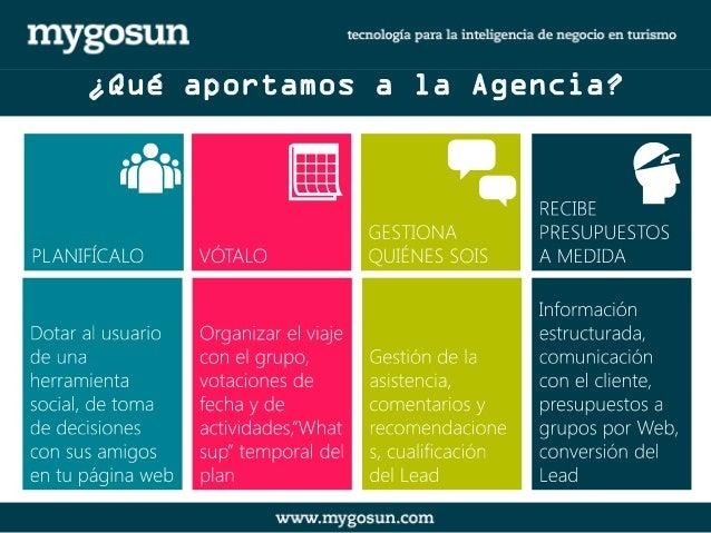 ¿Qué aportamos a la Agencia?