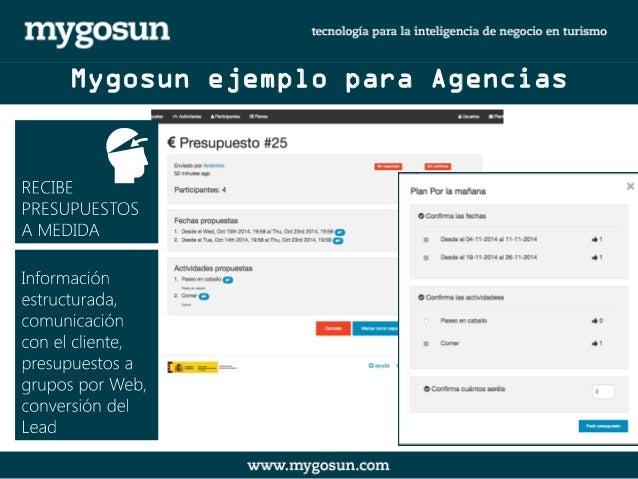 Mygosun ejemplo para Agencias