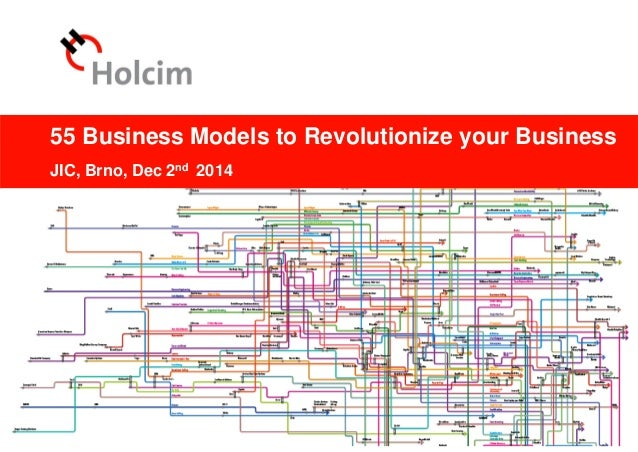© 2012 Holcim Ltd 55 Business Models to Revolutionize your Business JIC, Brno, Dec 2nd 2014